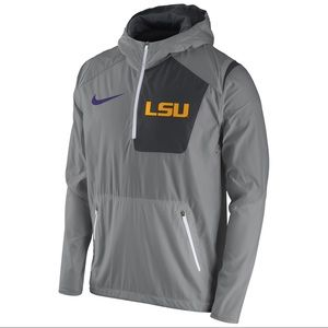 LSU Tigers Vapor Fly Rush Half-Zip Pullover Jacket
